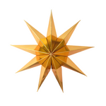 Load image into Gallery viewer, Black and Gold hanging star decoration