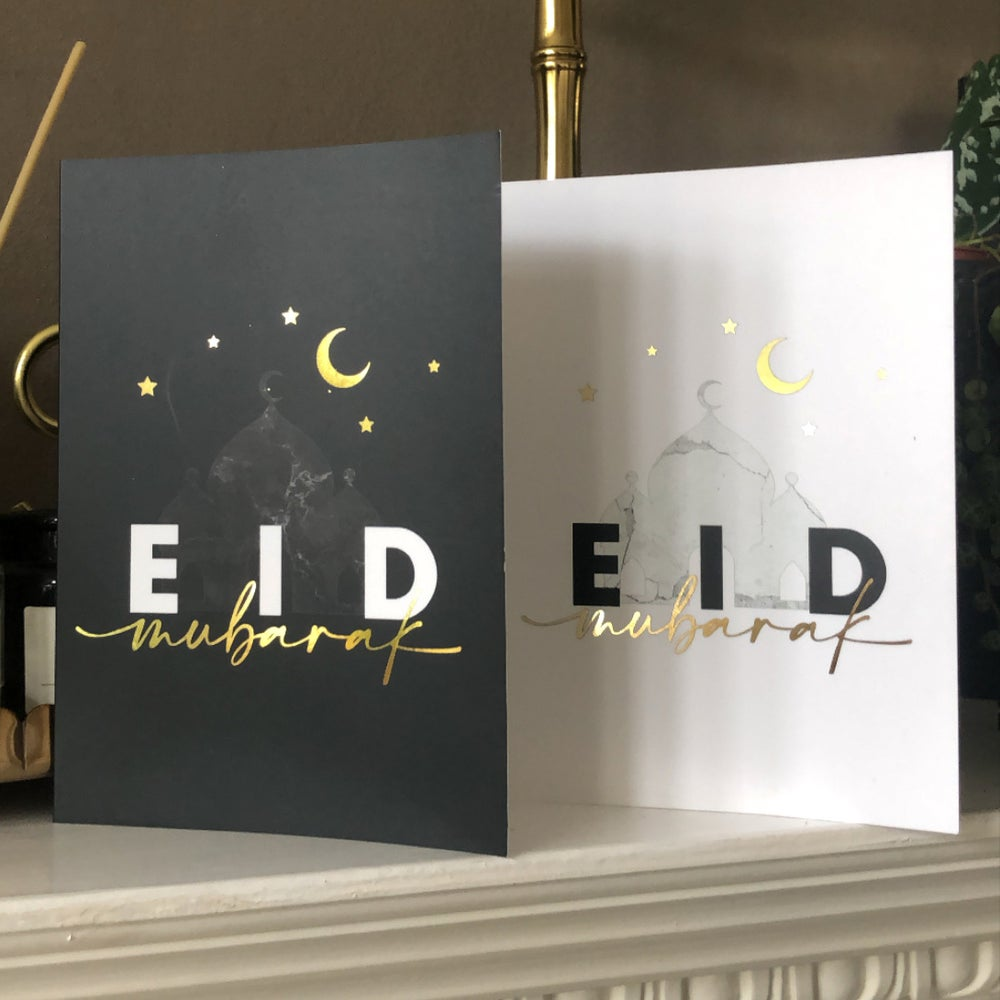 NEW Gold Foiled A6 Eid Mubarak Greeting Cards