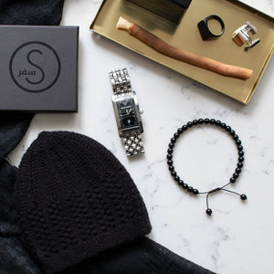 Black Gloss Bracelet 33 Bead Tasbih by Safar London