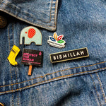 Load image into Gallery viewer, Alhamdulillah, Bismillah and Hub Lapel Pins by Safar London