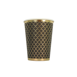 Moroccan Black and Gold Party Cups 10 pack