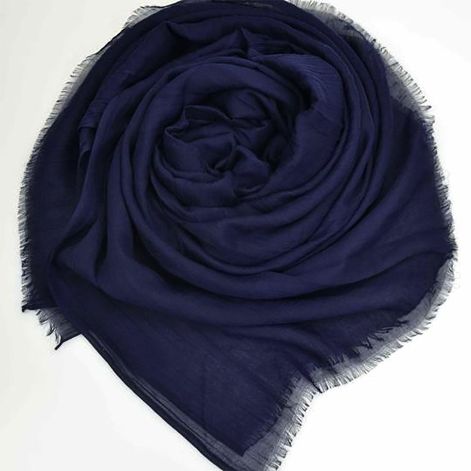 Soft Cotton Silk Hijabs with frayed edges