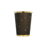 Load image into Gallery viewer, Stardust Black and Gold cups 10 pack