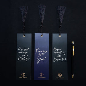 Gold Foiled Bookmarks by Safar London