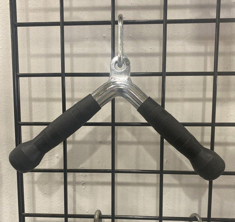 Triceps Full Extension Chrome Bar W/ PU Ergo Grips