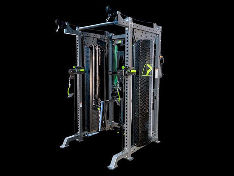 Prime Fitness Prodigy HLP Selectorized Rack; 4:1 Ratio (includes 1/pair of Spotter Arms and 1/pair of J-Hooks)