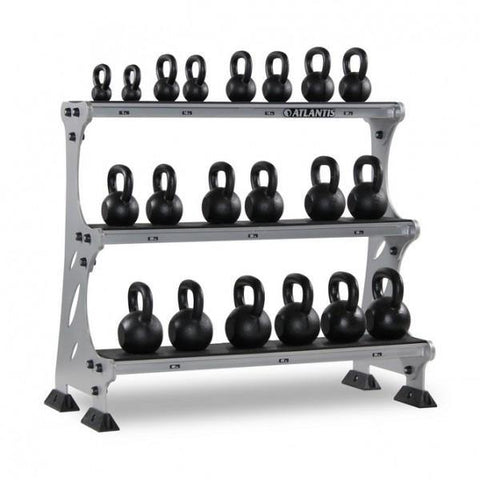 Atlantis Strength PRR0210 (S-291) Three-Tier Kettlebell Rack (Pairs)