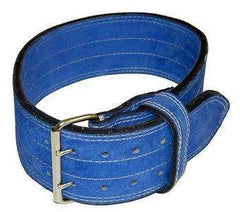 "Ader Leather Power Lifting Weight Belt- 4"" Blue"