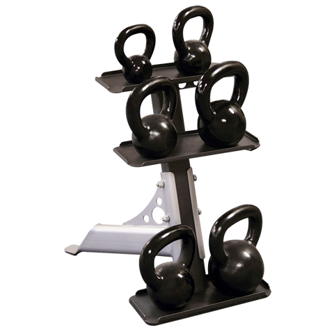 Body Solid 3 Tier Compact Kettlebell Rack