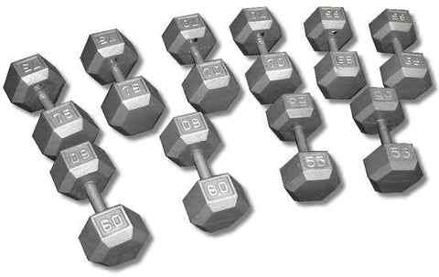 Apollo Cast Iron Hex Dumbbells - Price is Per PAIR