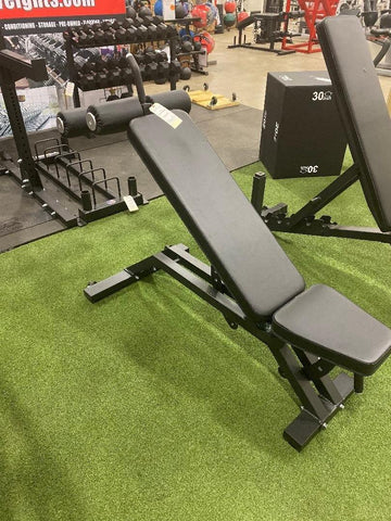 FPD MFB-V2 Adjustable Adjustable Bench With Leg Lock Pad Black Frame Black Upholstery