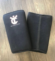 YiCompete 7mm Black PWRFUL Knee Sleeves (Long)