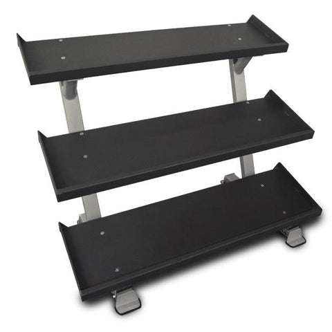"Inflight Fitness 54"" 3-Tier DB Rack - Tray Style"