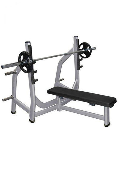 Muscle D Olympic Flat Bench with Plate Storage