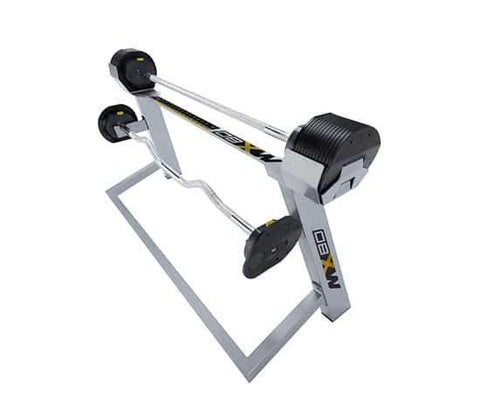 MX-Select 80 Adjustable Straight and EZ Curl Barbell with Stand (20-80 lbs in 5 lb Increments)