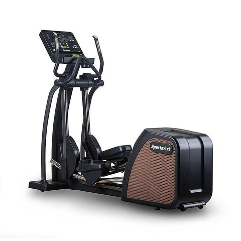 "SportsArt E876 Status Senza Elliptical with 16"" Touch Screen and 17"" to 29"" Adjustable Stride"