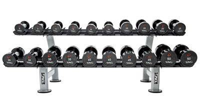 TAG 2 Tier Dumbbell rack with Saddles (10 Pair)