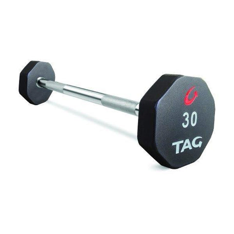 TAG 8 Sided Premium Ultrathane Straight Fixed Barbell Set 20-110 (10 Bars)
