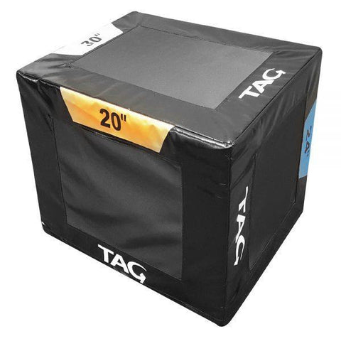 "Tag Fitness 3-Way Plyo Box (20"" x 24"" x 30"")"