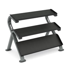 TKO 3 Tier Horizontal Dumbbell Rack With Oval Tubing