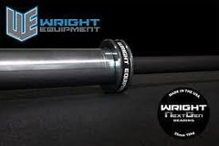 Wright Equipment 15KG Olympic Bearing Bar Next Generation (Made in USA) --- BLACK CERAKOTE SHAFT WITH CHROME BELLS