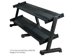 York Barbell Two-Tier Dumbbell Tray Rack -Black 69128