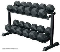 York Barbell Two Tier Dumbbell Rack 69126