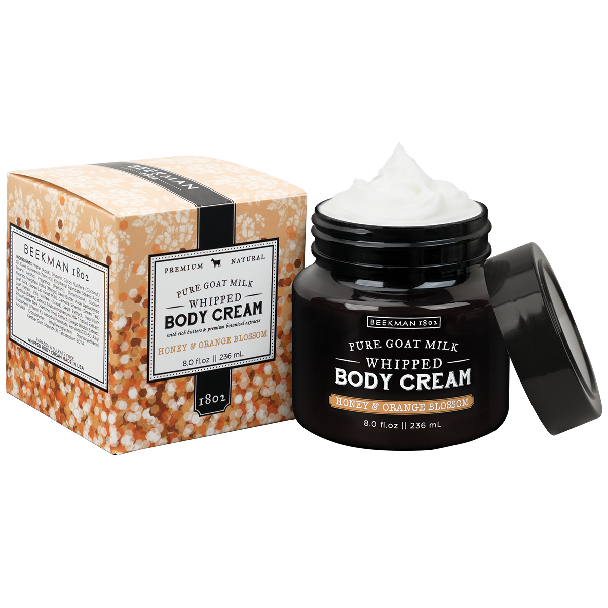 Beekman Honey & Orange Blossom Whipped Body Cream