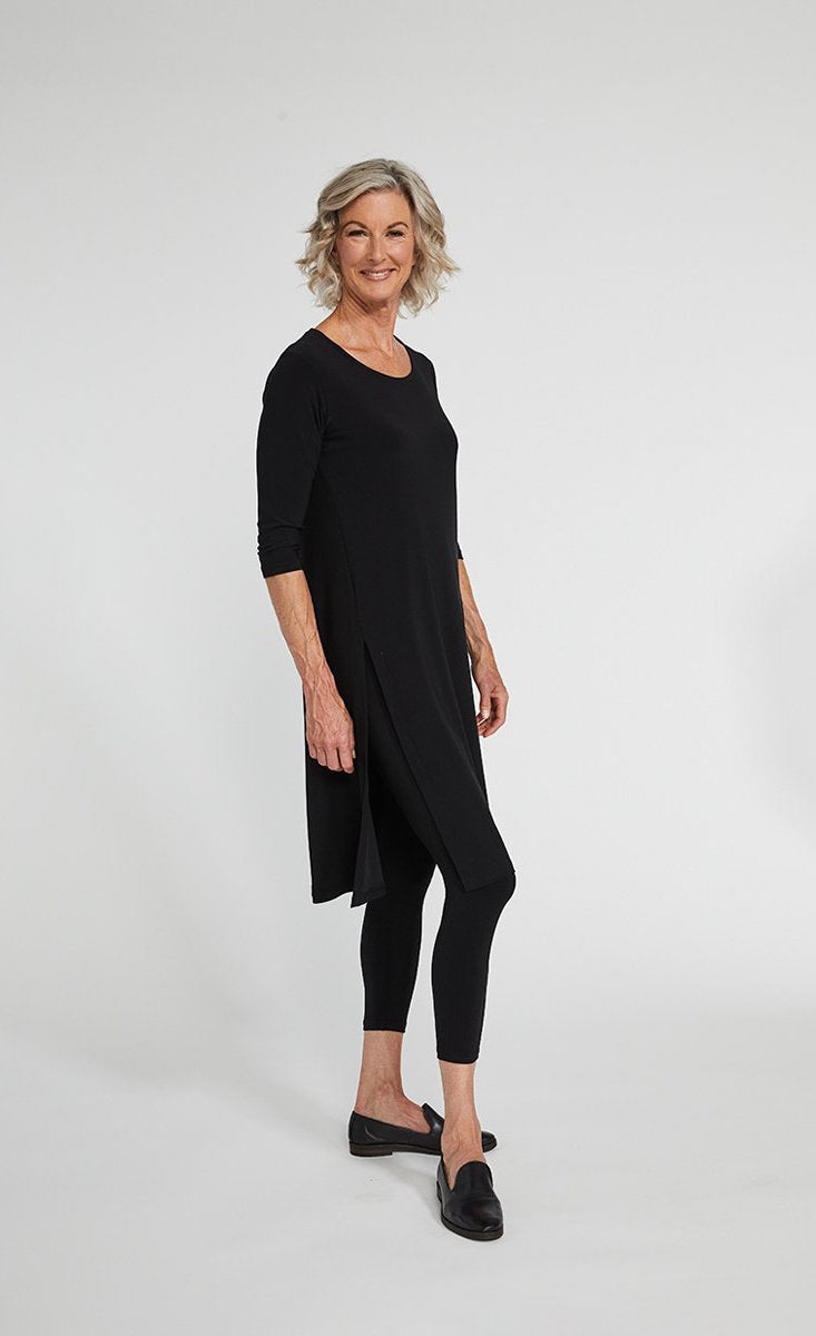 Sympli High Slit Over Under Tunic