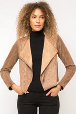 Load image into Gallery viewer, Mystree Snake Drape Jacket - ModeAlise