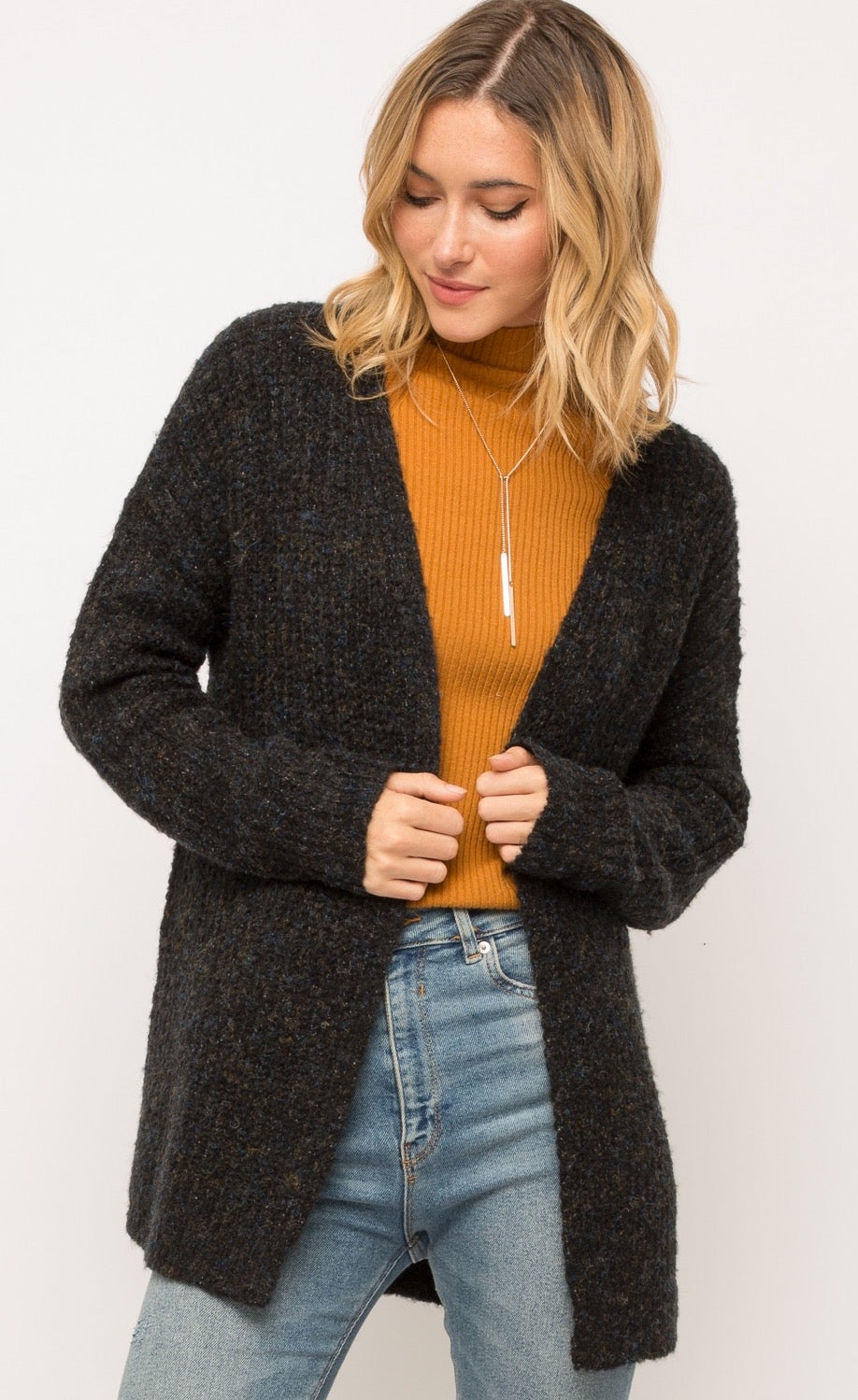 Mystree Open Cardigan