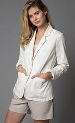 Load image into Gallery viewer, Lola & Sophie White Camo Blazer