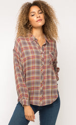 Load image into Gallery viewer, Mystree 2way Plaid Shirt