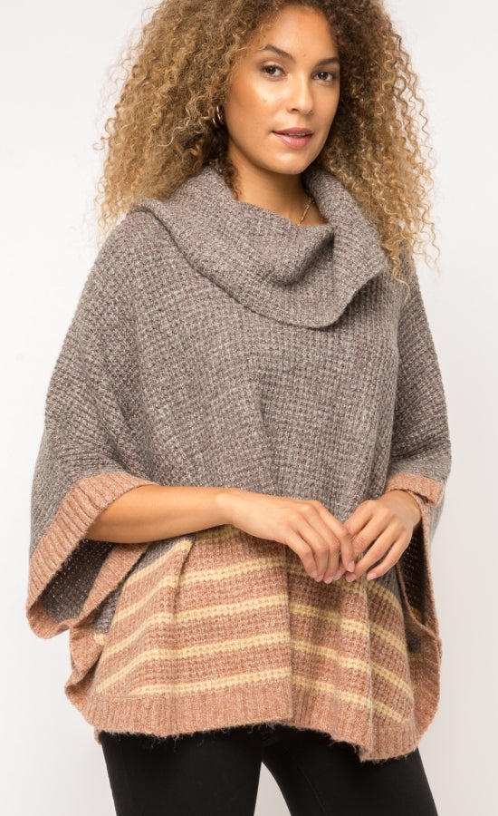 Mystree Turtleneck Poncho