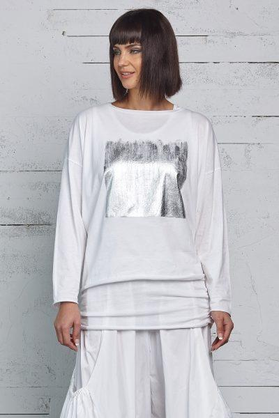 Planet Foil Boxy Tee - ModeAlise