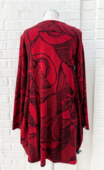 Load image into Gallery viewer, Fenini Red Print Tunic