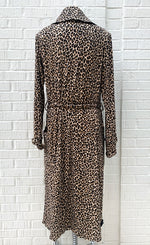 Load image into Gallery viewer, Petit Pois Long Leopard Coat