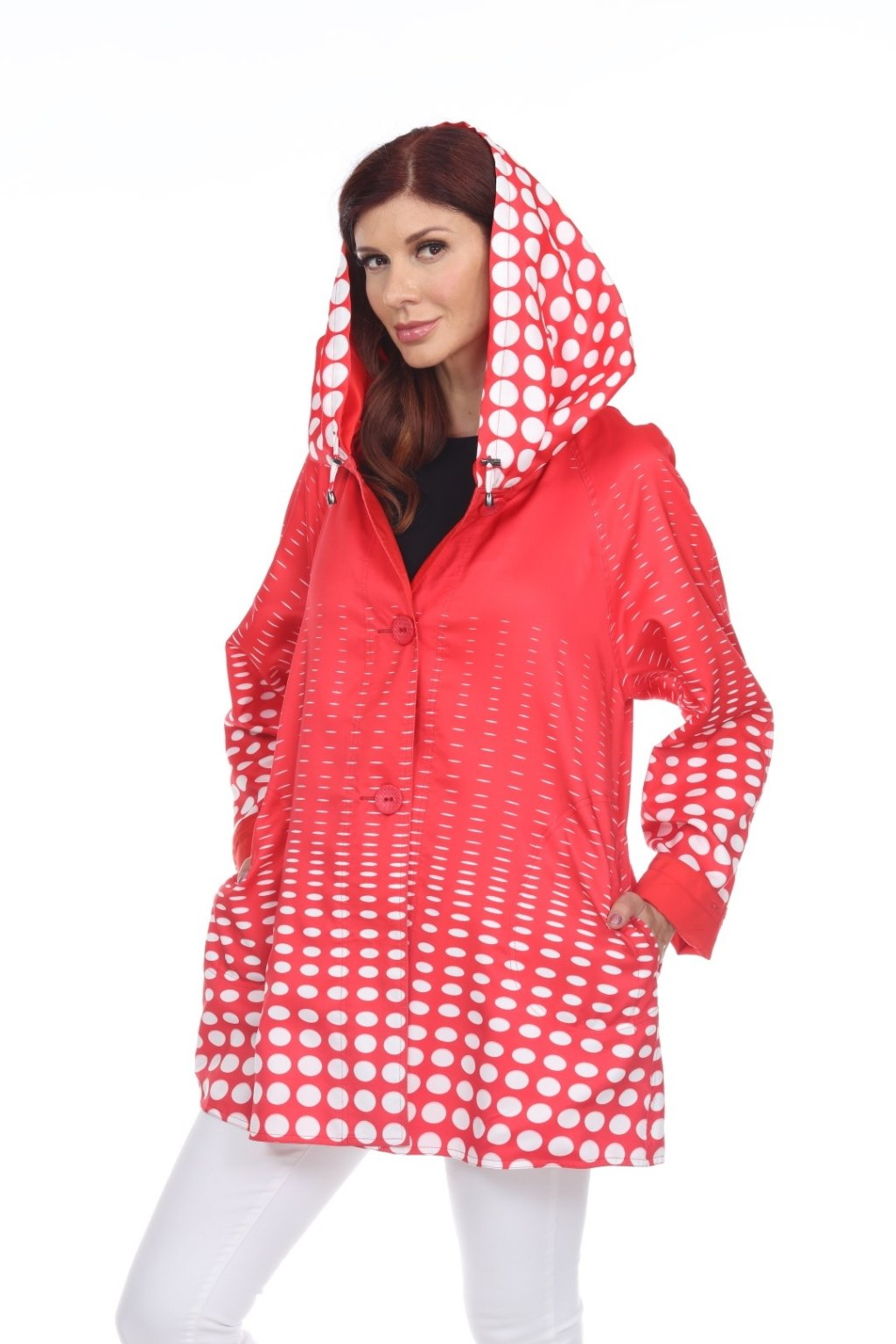 Lindi Toggle Dots Reversible Rain Jacket