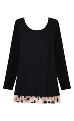 Load image into Gallery viewer, Alembika Black Gala Tunic W/ Dots
