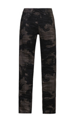Load image into Gallery viewer, Alembika Bronze Plaid Tie-Dye Pant