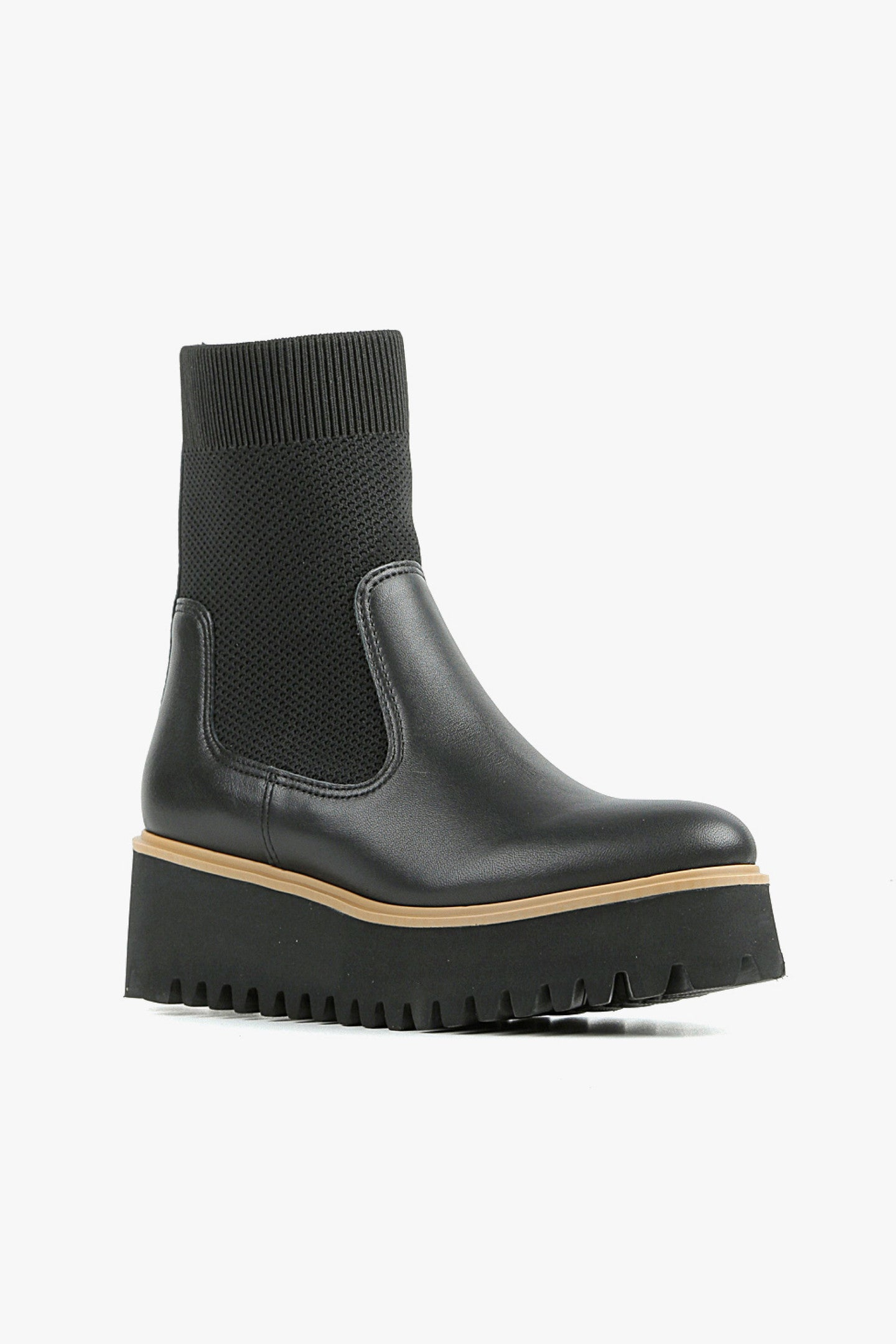 All Black Flatform Sock Boot
