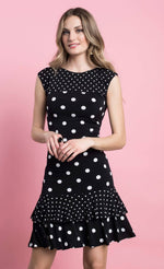 Load image into Gallery viewer, Frank Lyman Black & White Dot Dress
