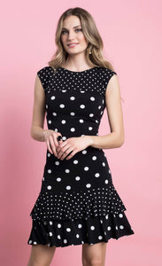 Frank Lyman Black & White Dot Dress
