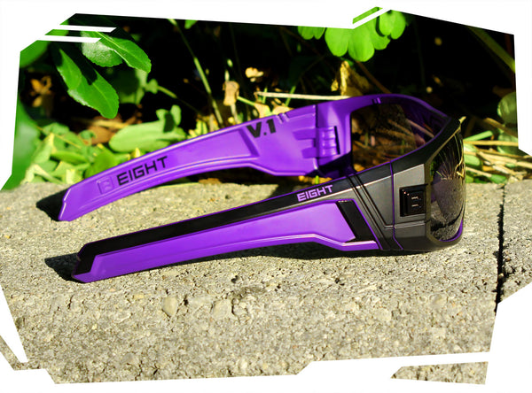 V.1 - Matte Black/Purple - Polarized