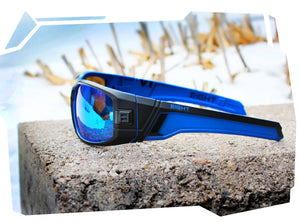 V.1 - Matte Blue REVO Polarized