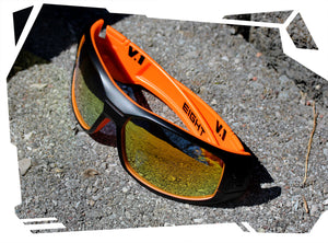 V.1 - Matte Black/Orange - Orange REVO Polarized