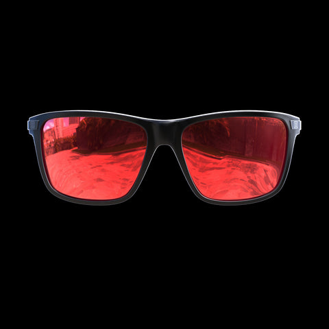 VAPOR - Black/Gun Metal Red Mirror