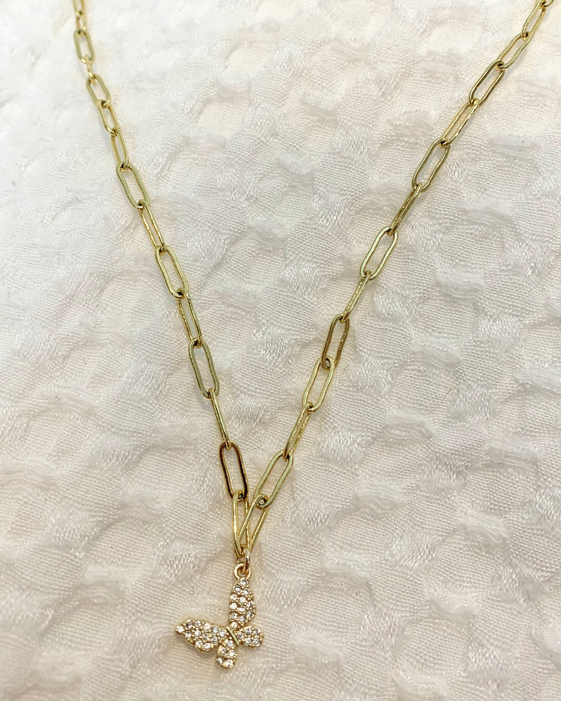 Butterfly Link Necklace