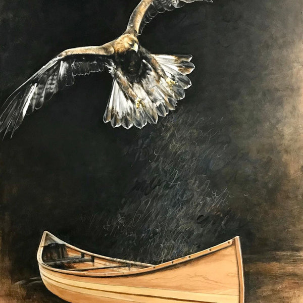 Woodstrip Canoe Features in New Artwork by Karen Tamminga-Patton