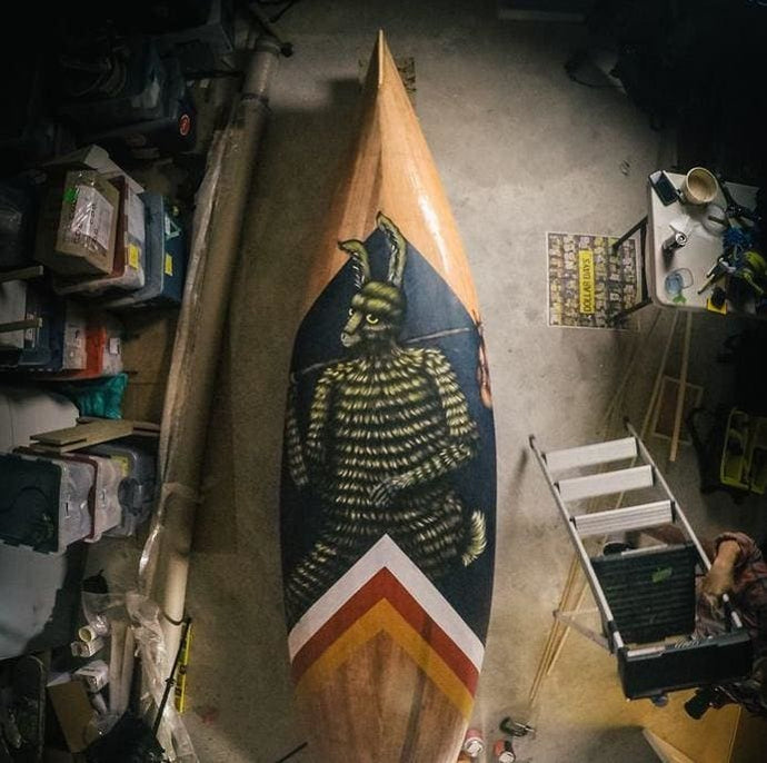 Creative Collaboration: Andrew Szeto and Drew Mosley's Painted Canoe